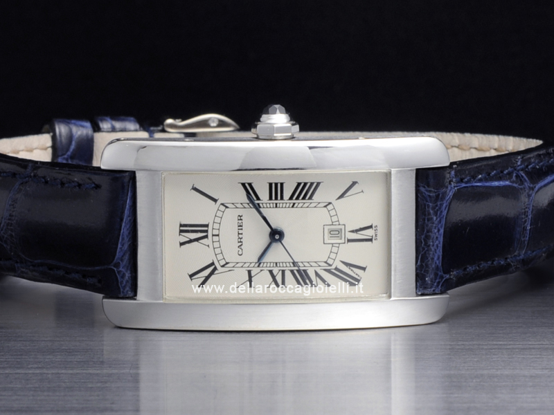 Cartier Tank Americaine MM White Gold Watch W2603656