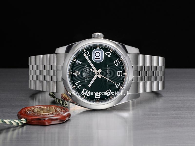 Rolex Datejust 116200 Jubilee Bracelet Black Concentric