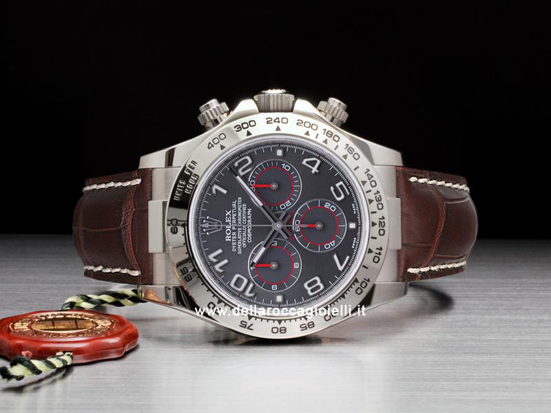 Tonino Lamborghini Watch >> Rolex Cosmograph Daytona White Gold 116519 Slate Arabic Dial :: Della Rocca Gioielli