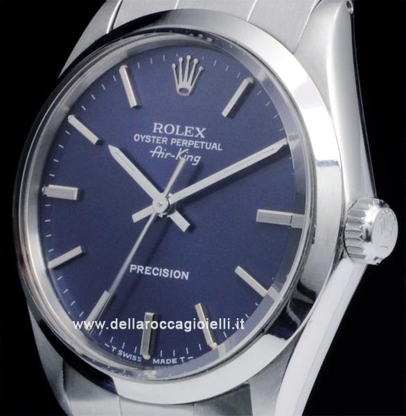 Rolex Air-King 5500 Oyster Bracelet Blue Dial :: Della Rocca Gioielli