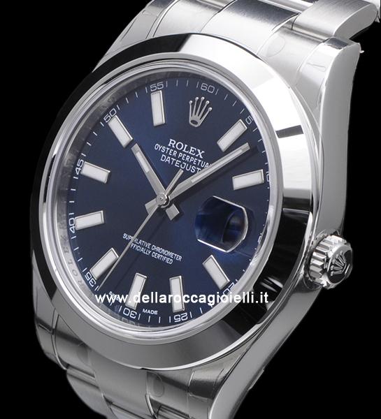 Tonino Lamborghini Watch >> Rolex Datejust II 116300 Oyster Bracelet Blue Dial :: Della Rocca Gioielli