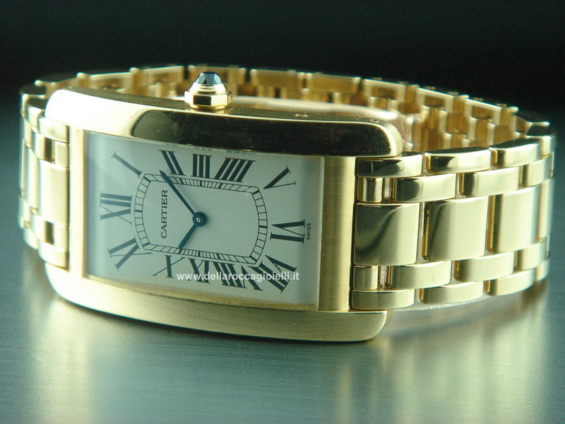 Cartier Tank Americaine Gold Watch - Ref. W26012K2