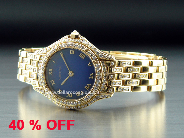 Cartier Cougar Lady Gold Watch with Diamonds - Ref. WF8015FR