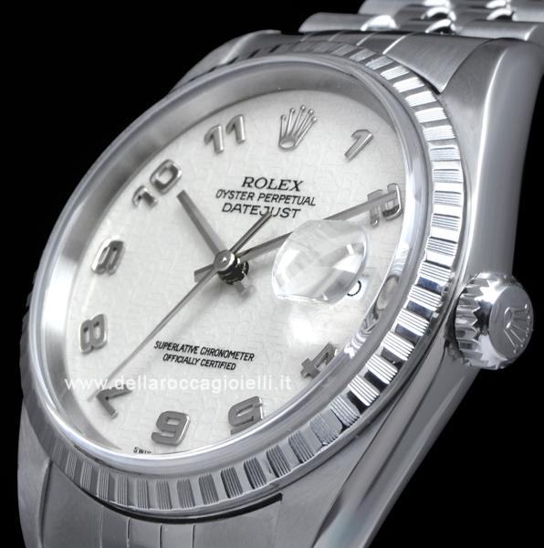 Rolex Datejust 16220 Jubilee Bracelet Ivory Arabic Dial