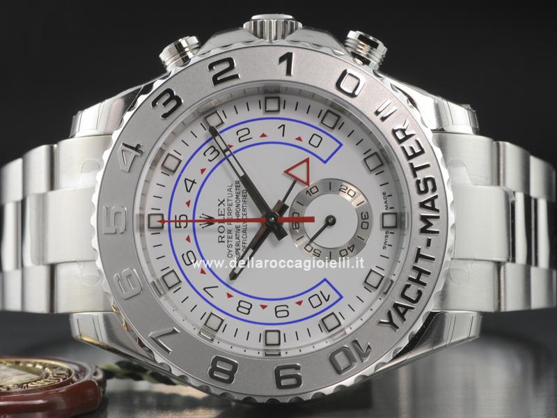 ab5a53dc793 ... Rolex Yacht-Master II Chrono Oro Bianco 116689 Quadrante Bianco ...