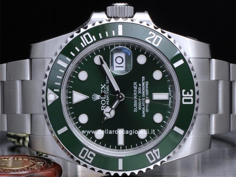 1536fcddd72 ... Rolex Submariner Data 116610LV Ghiera Ceramica Quadrante Verde ...