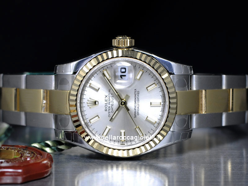 Rolex Datejust Lady 179173 Oyster Quadrante Argento