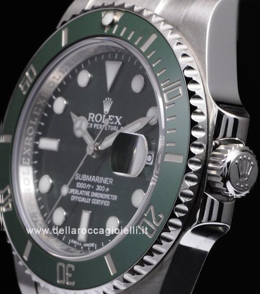 super popolare ee823 e06a0 Rolex Submariner Quadrante Verde Ghiera Ceramica 116610LV ...