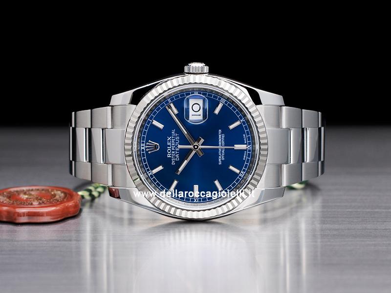 Rolex Datejust 126234 Oyster Quadrante Blu Indici :: Della ...