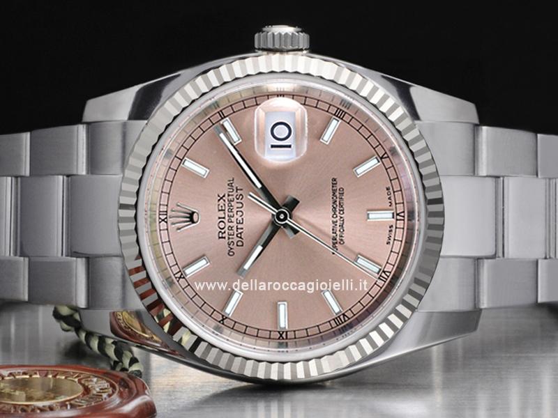 Rolex Datejust 116234 Oyster Quadrante Rosa Indici