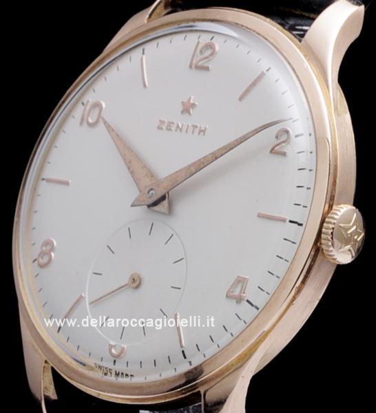 Zenith Epoca Anni 60 676195 Oro Rosa Quadrante Bianco