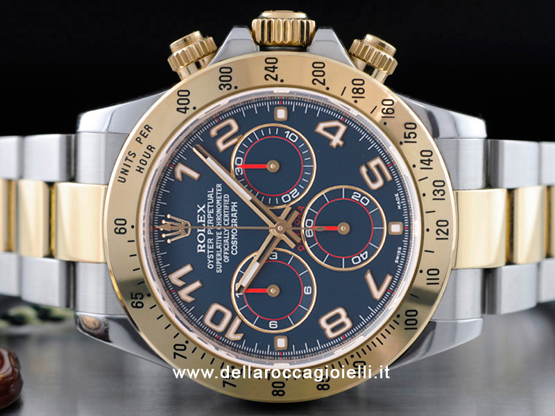 rolex cosmograph daytona 116523 quadrante blu della. Black Bedroom Furniture Sets. Home Design Ideas