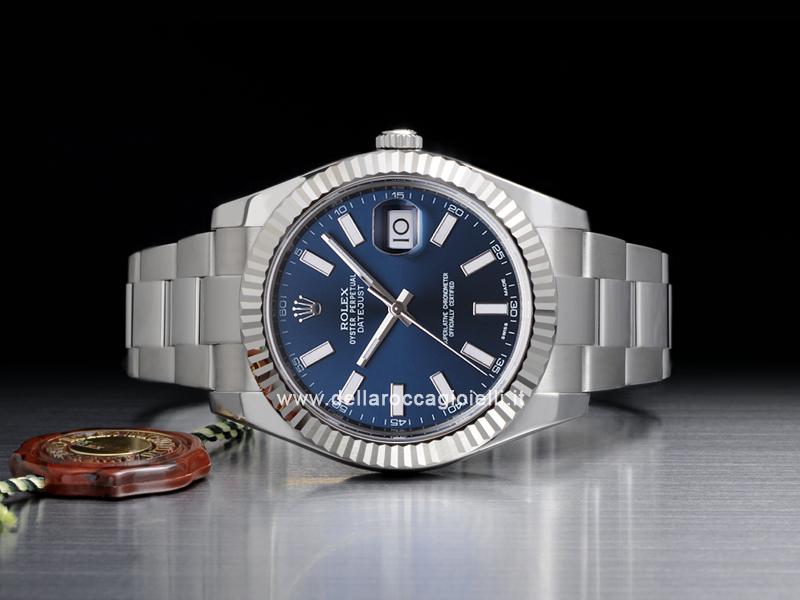 nuovo stile f6df6 3c661 Rolex Datejust II 126334 Oyster Quadrante Blu :: Della Rocca ...