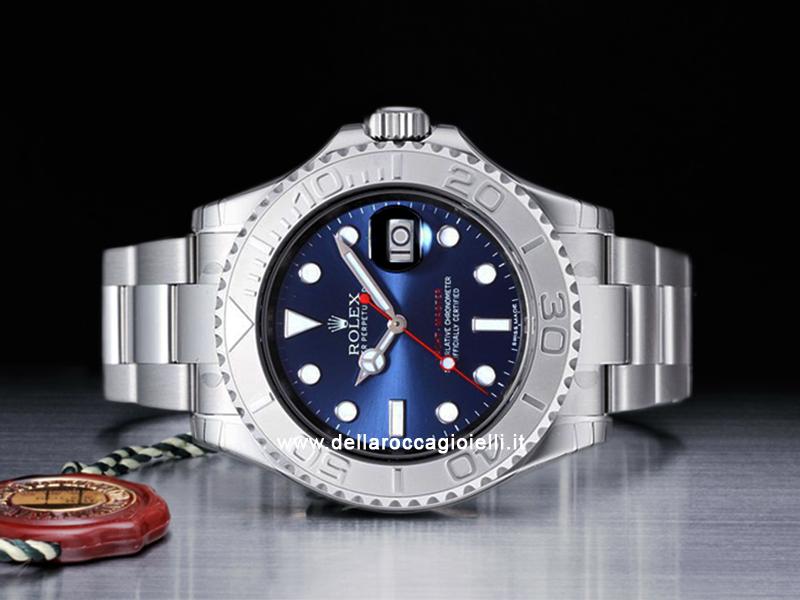 cb0e0fef5b6 Rolex Yacht-Master Platino 116622 Quadrante Blu    Della Rocca Gioielli