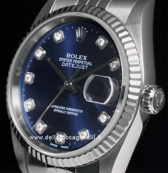 vasta selezione di 43bcb 05ef3 Rolex Datejust 16234 Jubilee Quadrante Blu Diamanti :: Della ...