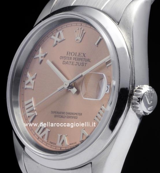 Rolex Datejust 16200 Oyster Quadrante Rosa Romani :: Della ...