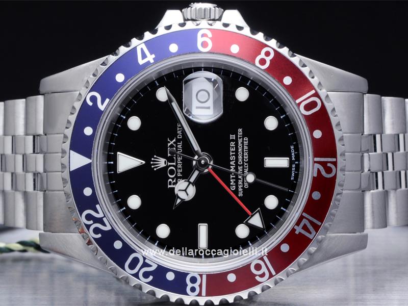 Rolex Gmt Master Ii 16710t Jubilee Ghiera Rosso Blu Della Rocca Gioielli