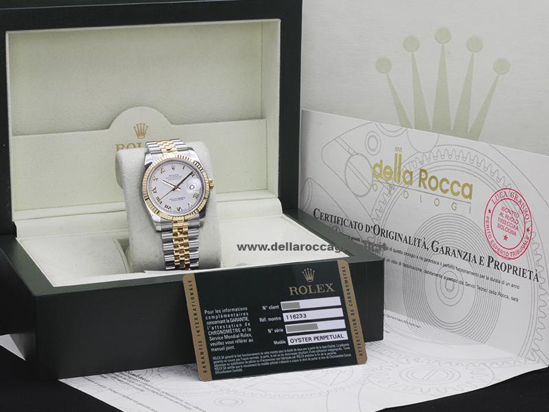 Rolex Datejust 126233 Jubilee Quadrante Bianco Romani