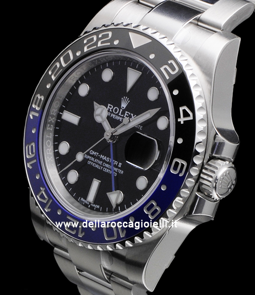 Rolex Gmt Master Ii 116710blnr Oyster Ghiera Blu Nera