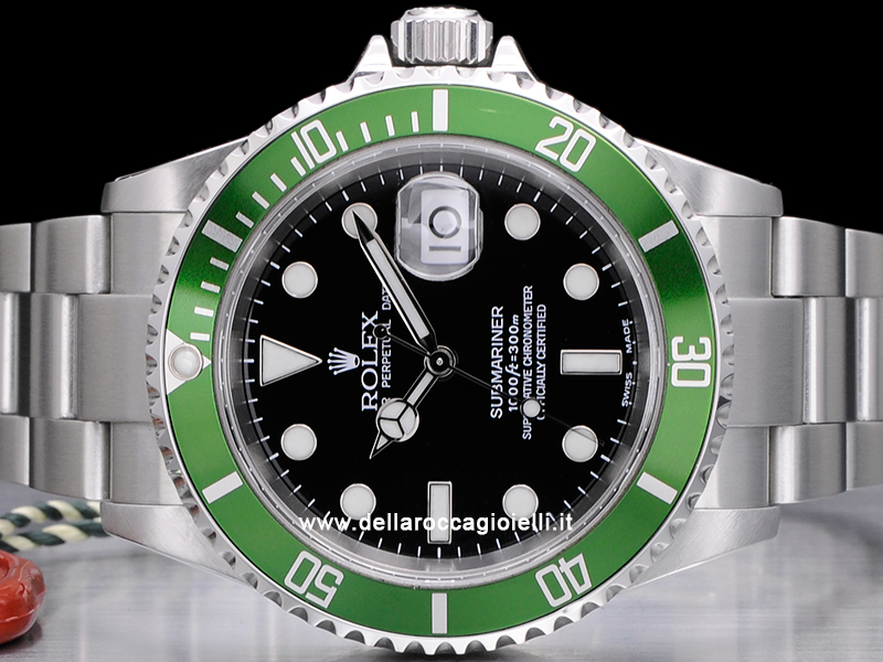 6eec2fa4246 ... Rolex Submariner Ghiera Verde 16610LV Fat Four Quadrante Nero ...