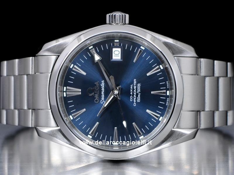 2aec0b4c951 Omega Seamaster Aqua Terra Co-Axial 25048000 Quadrante Blu    Della ...