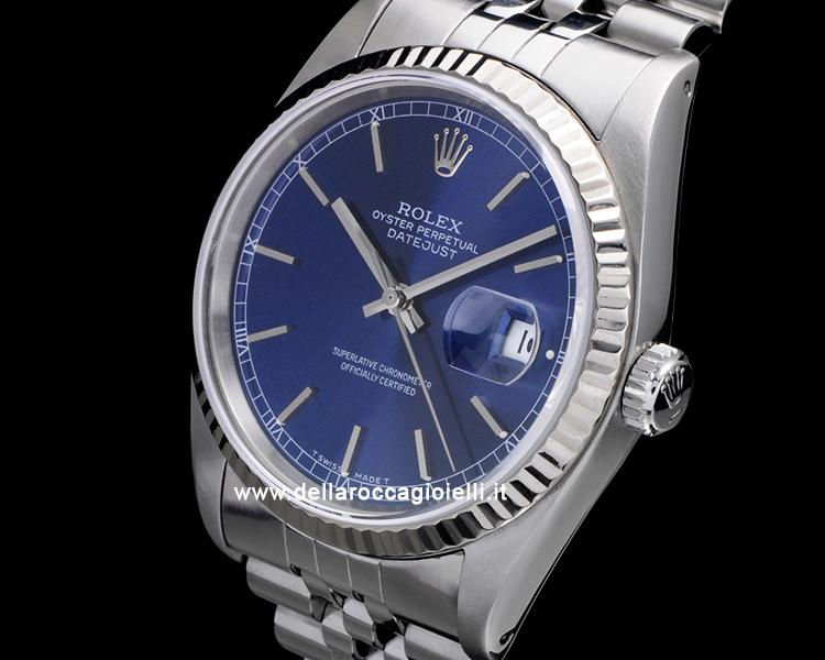 nuovo concetto 2e738 08fae Rolex Datejust 16234 Jubilee Quadrante Blu | della Rocca ...