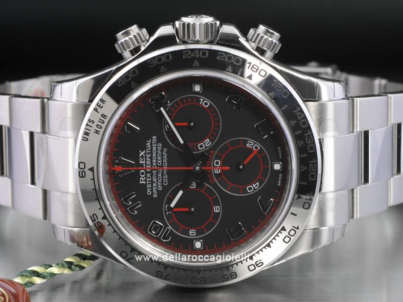 qualità superiore 26879 1650a Rolex Daytona Cosmograph 116509 Oro Bianco Quadrante Nero ...