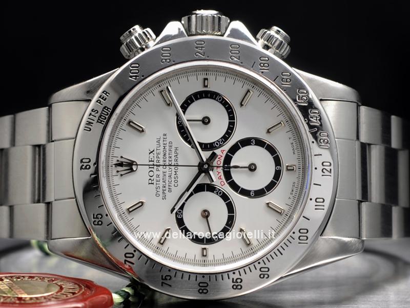 100% authentic 66c30 0549a Rolex Daytona Cosmograph 16520 Zenith Quadrante Bianco ...