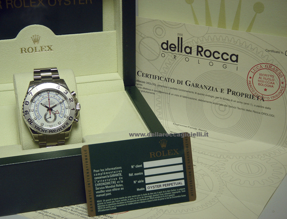 b494092dad6 Rolex Yacht-Master II Chrono Oro Bianco 116689 Quadrante Bianco    Della  Rocca Gioielli