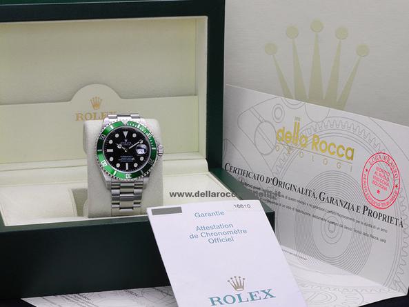 013c70a0953 Rolex Submariner Ghiera Verde 16610LV Fat Four Quadrante Nero    Della  Rocca Gioielli