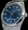 Rolex Air-King 14000 Oyster Quadrante Blu Arabi 3-6-9