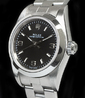 Rolex Oyster Perpetual Lady 24 Oyster Quadrante Nero 3-6-9 76080