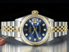 Rolex Datejust Lady 26 Jubilee Quadrante Blu Diamanti 69173