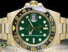 Rolex GMT-Master II Gold Watch 116718LN Green Dial Ceramic Bezel