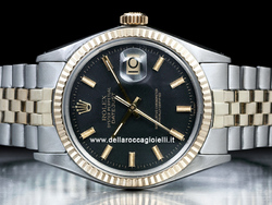 Rolex Datejust 1601 Jubilee Quadrante Nero Wide Boy