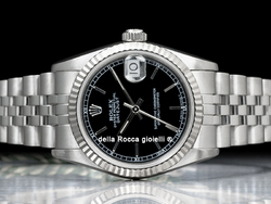 Rolex Datejust Medio Lady 31 68274 Jubilee Quadrante Nero