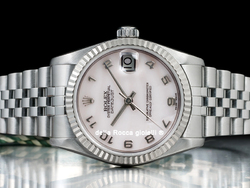 Rolex Datejust Medio Lady 31 68274 Jubilee Quadrante Madreperla Arabi