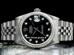 Rolex Datejust Medio Lady 31 68274 Jubilee Quadrante Nero Diamanti