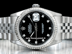Rolex Datejust 16234 Jubilee Quadrante Nero Diamanti