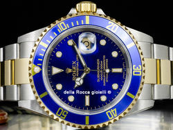 Rolex Submariner Data 16613T SEL Oyster Quadrante Blu