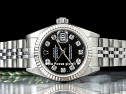 Rolex Datejust Lady 79174 Jubilee Quadrante Nero Diamanti