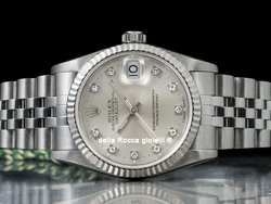 Rolex Datejust Medio Lady 31 68274 Jubilee Quadrante Argento Diamanti
