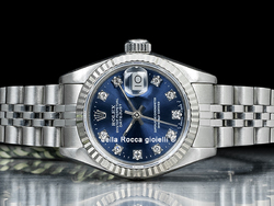 Rolex Datejust Lady 26 Jubilee Quadrante Blu Diamanti 69174