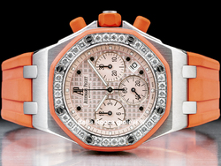 Audemars Piguet Royal Oak Offshore Orange Chrono Lady 25986CK Quadrante Rosa Ghiera Diamanti