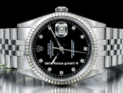 Rolex Datejust 36 Jubilee Quadrante Nero Diamanti 16234