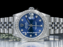 Rolex Datejust 31 Jubilee Quadrante Blu Diamanti Ghiera Diamanti 68274