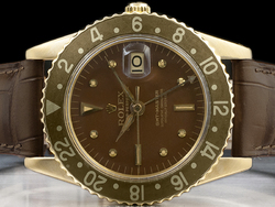 Rolex Gmt-Master 1675 Oro Quadrante Marrone Nipple