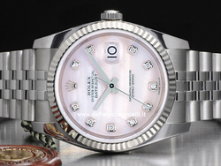 Rolex Datejust 126234 Jubilee Quadrante Madreperla Rosa Diamanti