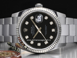 Rolex Datejust 126234 Oyster Quadrante Nero Diamanti