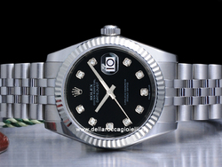 Rolex Datejust Medio Lady 31 178274 Jubilee Quadrante Nero Diamanti